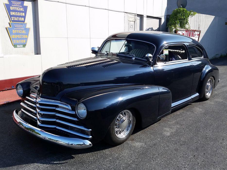1948 Chevrolet Fleetline Custom Kustom Black USA 2448x1836-04 wallpaper