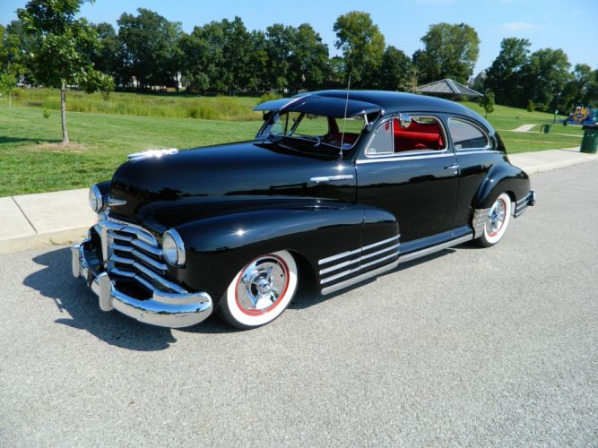1948 Chevrolet Fleetline Custom Kustom Black USA 3264x2448-01 wallpaper