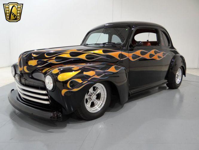 1948 Ford Coupe Hotrod Streetrod Hot Rod Street USA -01 wallpaper