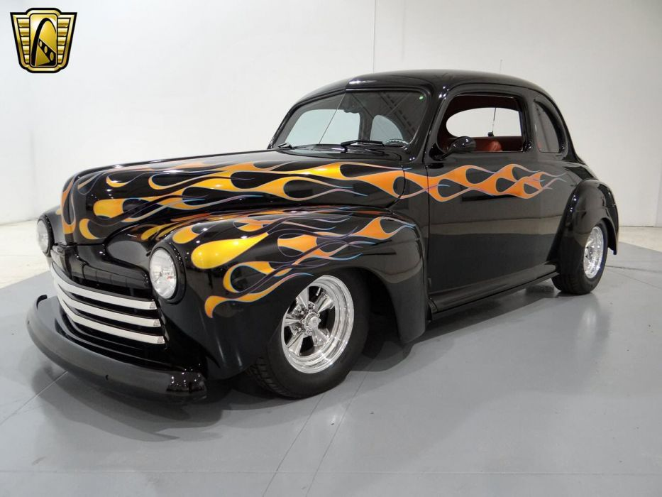 1948 Ford Coupe Hotrod Streetrod Hot Rod Street USA -01