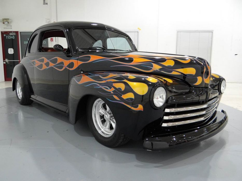 1948 Ford Coupe Hotrod Streetrod Hot Rod Street USA -04 wallpaper
