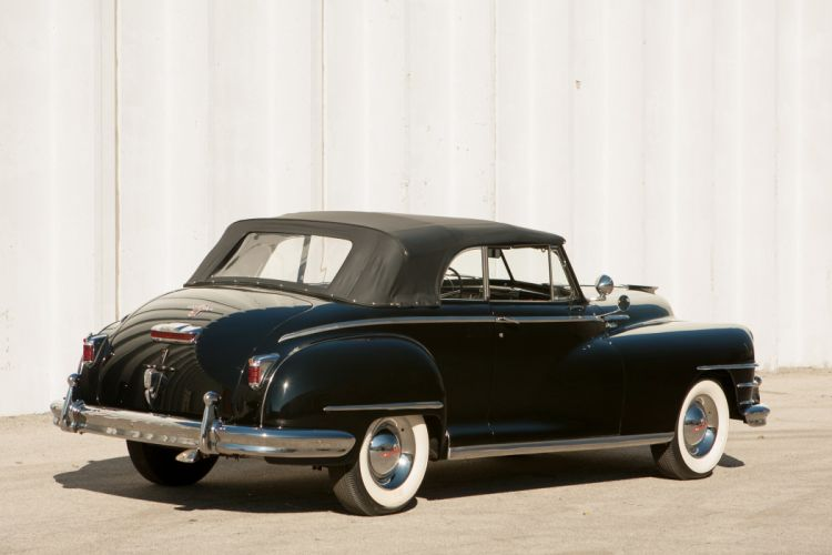 1948 Chrysler New Yorker Convertible Black Classic Old Vintage USA 3673x2449-02 wallpaper
