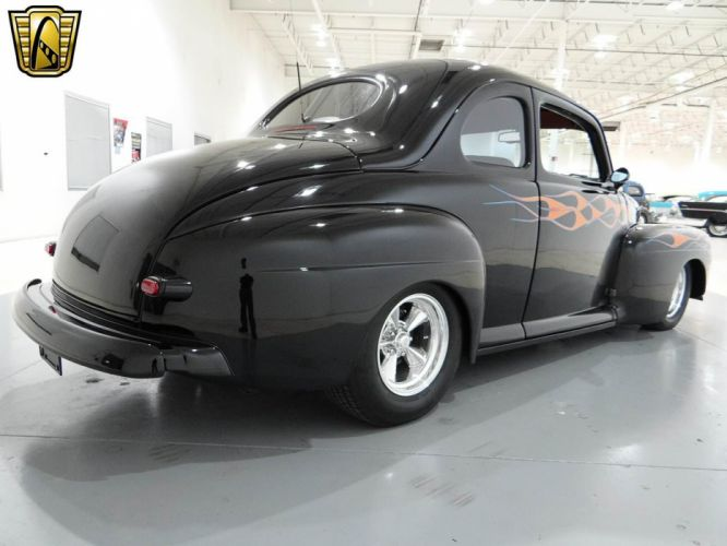 1948 Ford Coupe Hotrod Streetrod Hot Rod Street USA -08 wallpaper