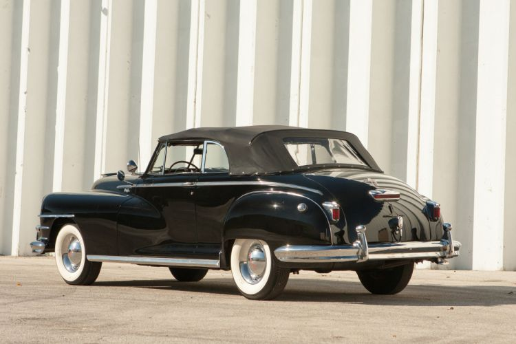 1948 Chrysler New Yorker Convertible Black Classic Old Vintage USA 3673x2449-03 wallpaper