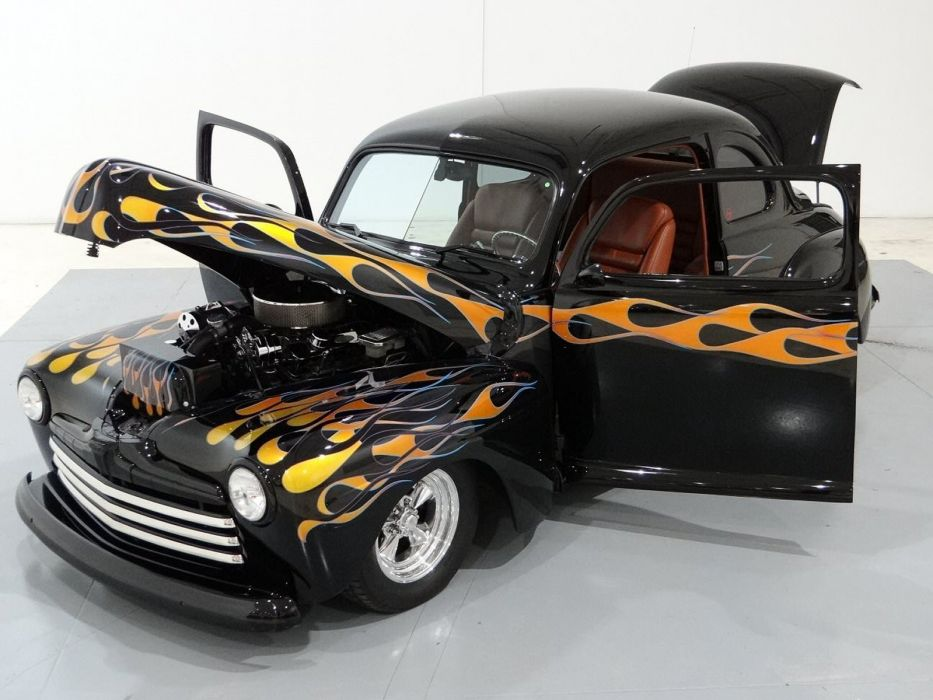 1948 Ford Coupe Hotrod Streetrod Hot Rod Street USA -12 wallpaper
