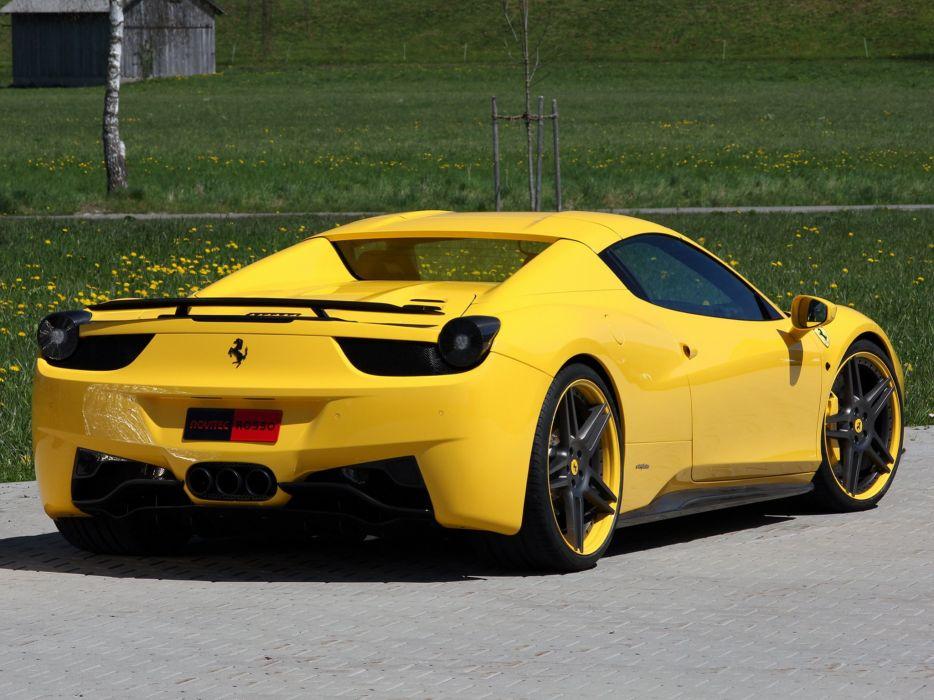 Novitec Rosso Ferrari 458 Spider cars modified 2012 wallpaper