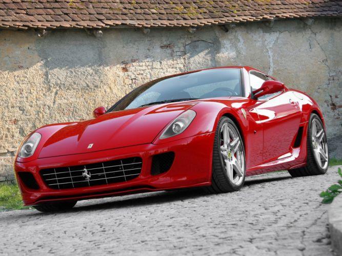 Novitec Rosso Ferrari 599 GTB Fiorano cars modified 2006 wallpaper