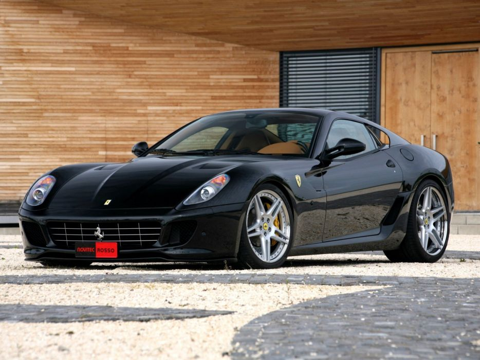 Novitec Rosso Ferrari 599 GTB Fiorano Bi-Kompressor cars modified 2008 wallpaper