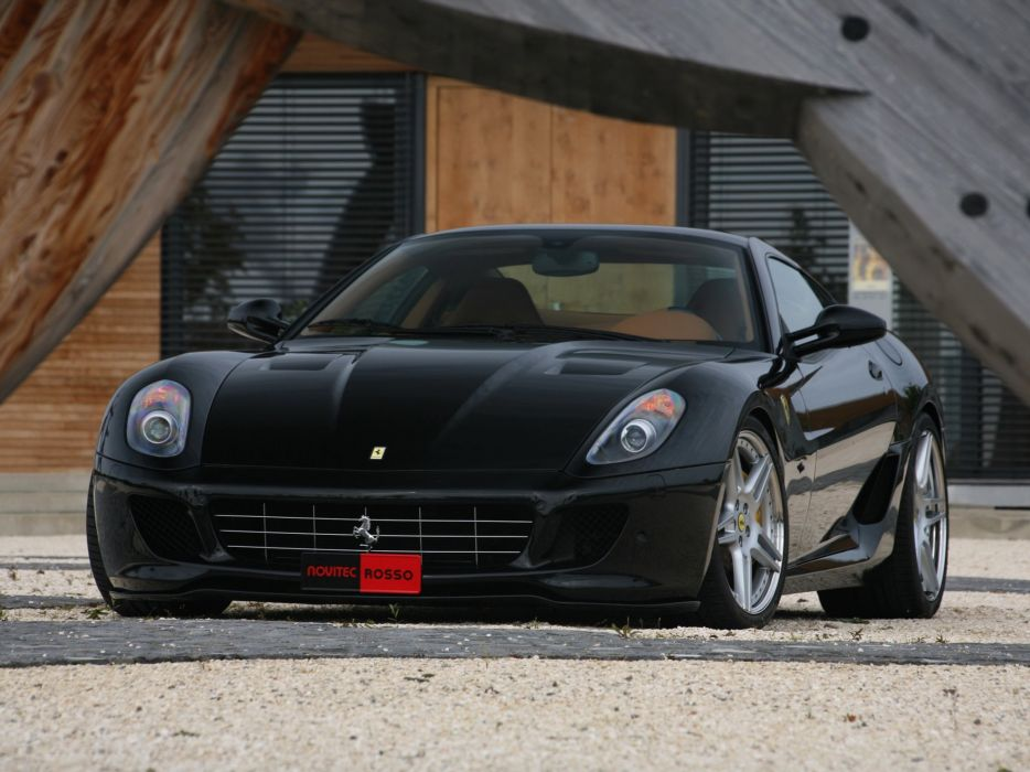 Novitec Rosso Ferrari 599 GTB Fiorano Bi-Kompressor cars modified 2008 wallpaper
