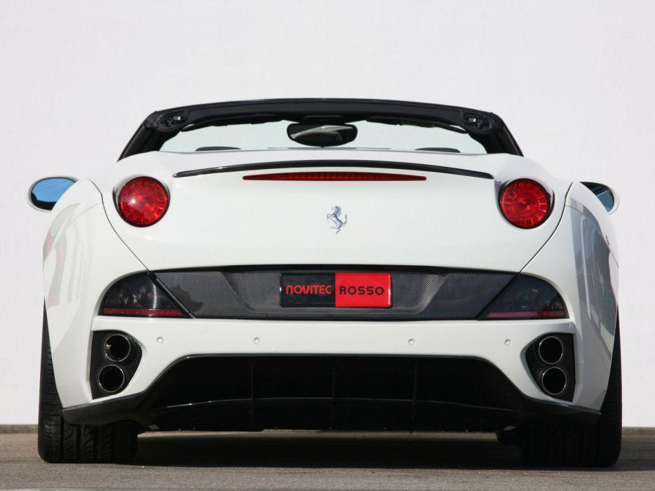 Novitec Rosso Ferrari California convertible cars modified 2009 wallpaper
