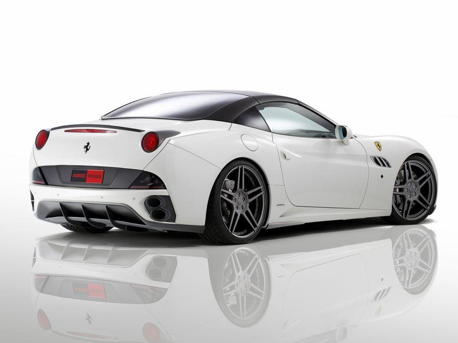 Novitec Rosso Ferrari California convertible Race 606 cars modified 2011 wallpaper