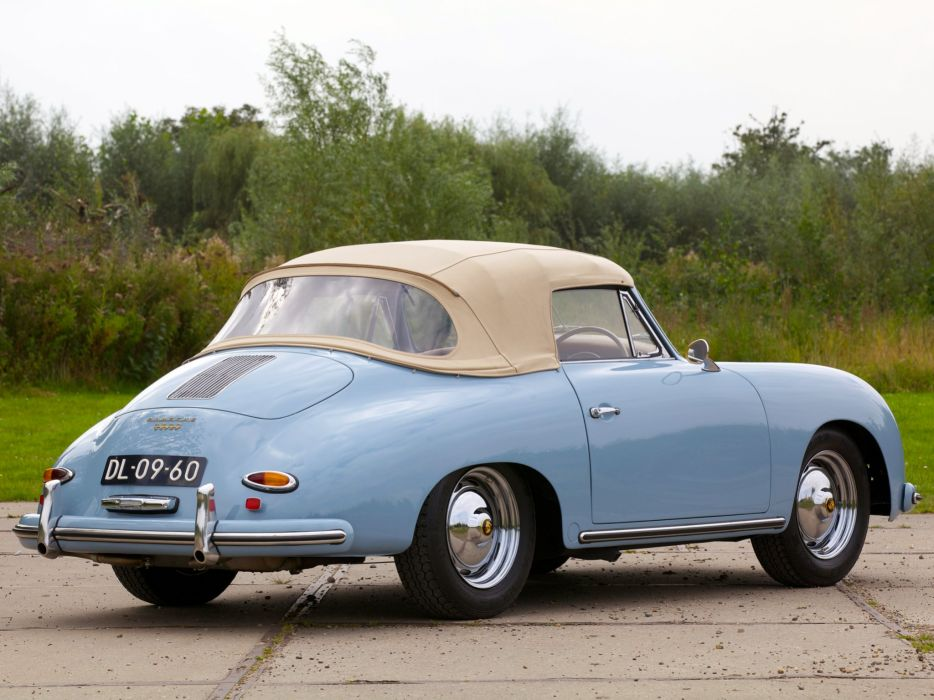 Porsche 356A 1600 Super cabriolet cars classic 1958 wallpaper