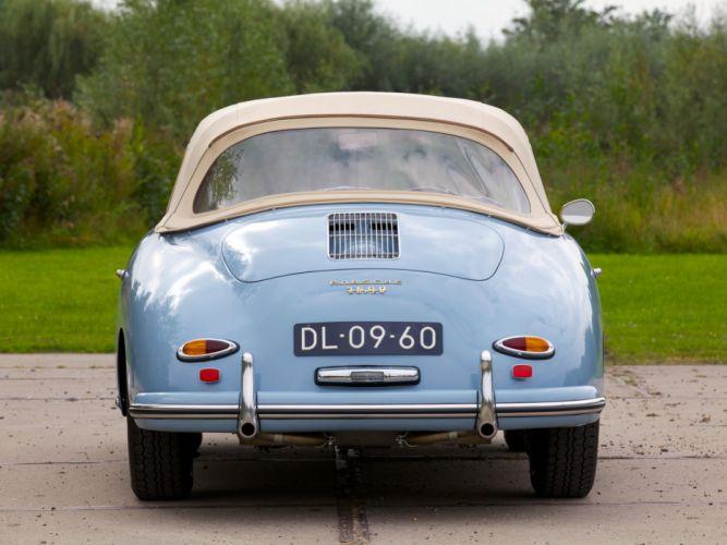 Porsche 356A 1600 Super cabriolet cars classic 1958 wallpaper