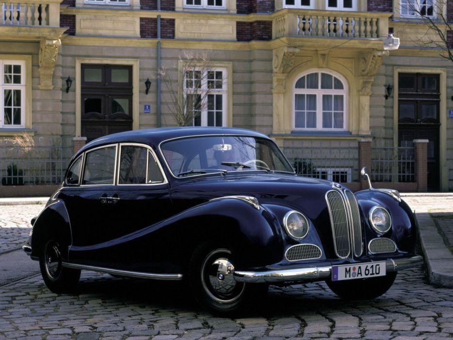 BMW 501 sedan classic cars 1952 wallpaper