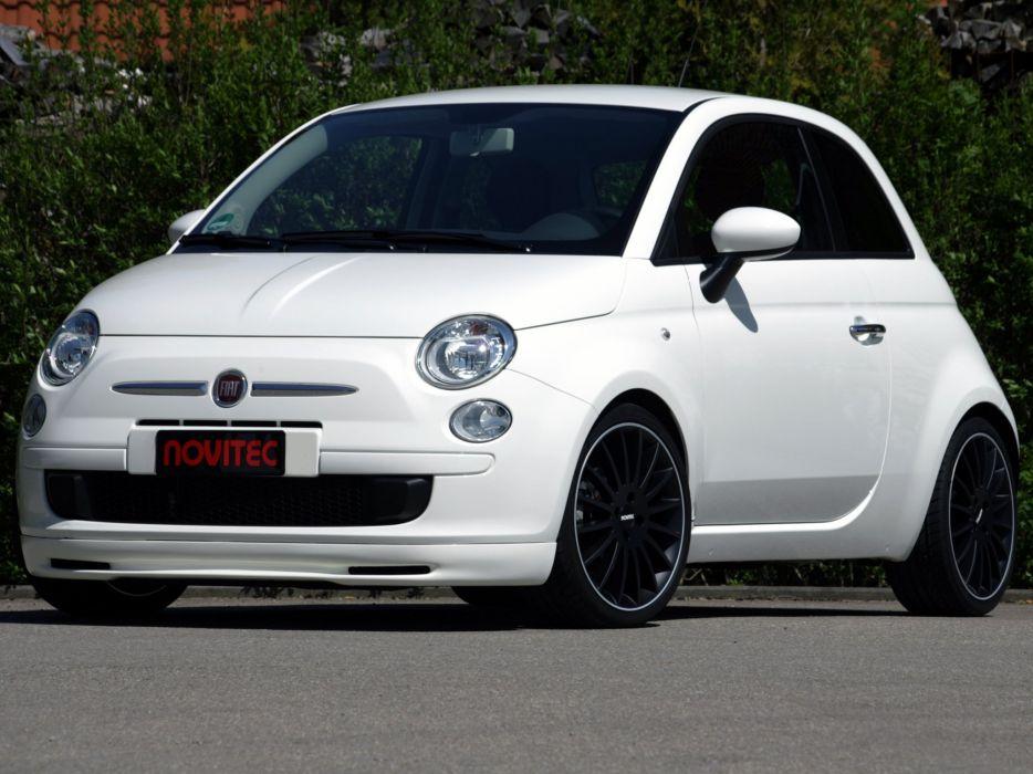Novitec Fiat 500 cars modified 2008 wallpaper
