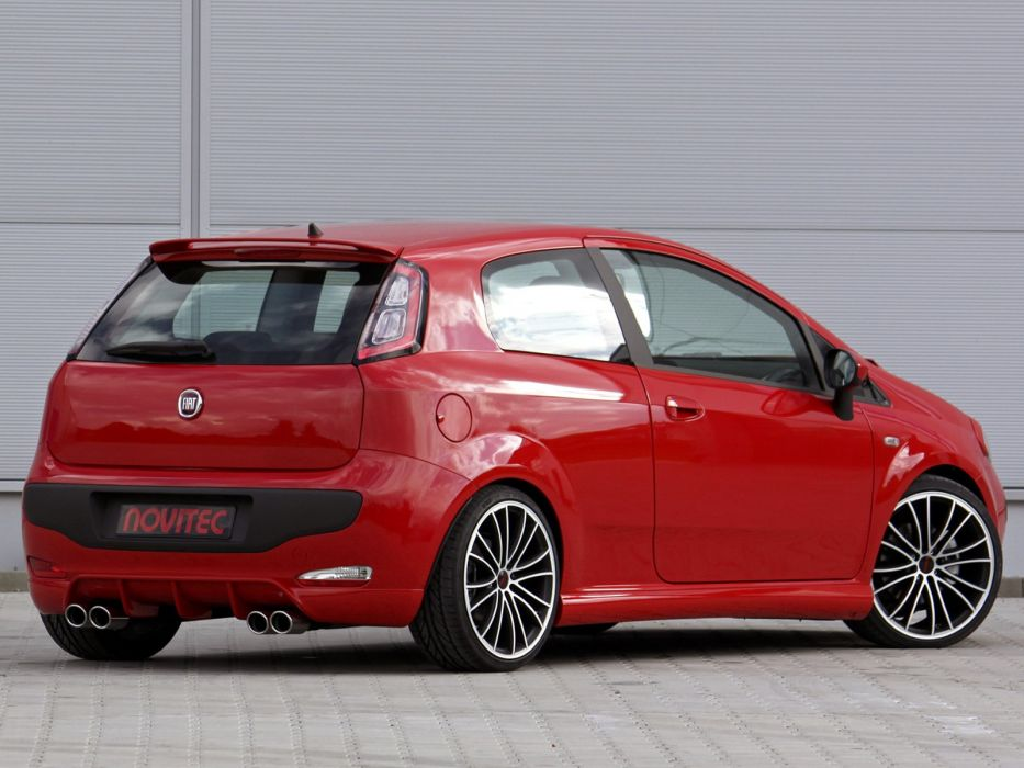 Novitec Fiat Punto Evo cars modified 2012 wallpaper