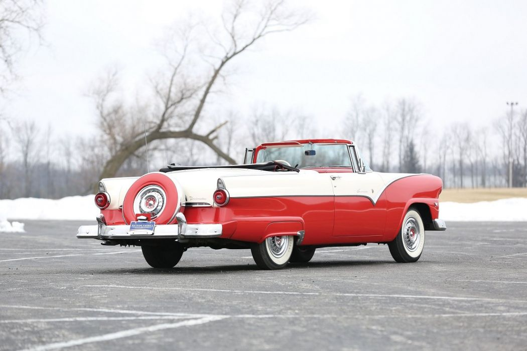 1955 Ford Fairlane Sunliner Convertible cars classic wallpaper