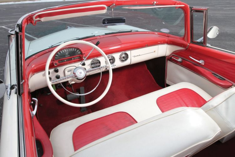 1955 Ford Fairlane Sunliner Convertible cars classic wallpaper
