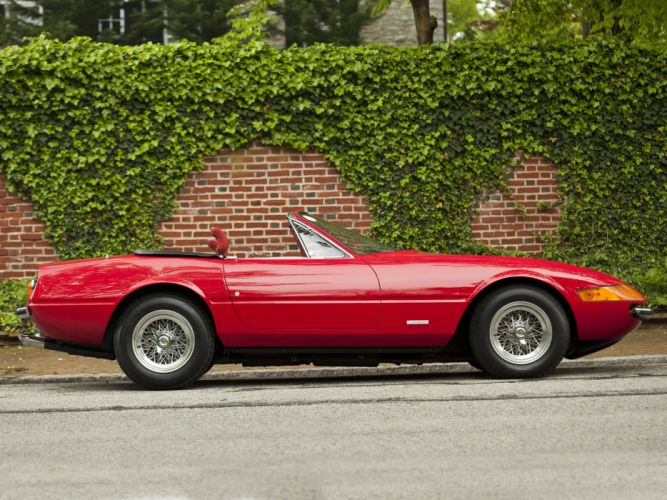 Ferrari 365 GTS-4 Daytona convertible cars 1971 wallpaper