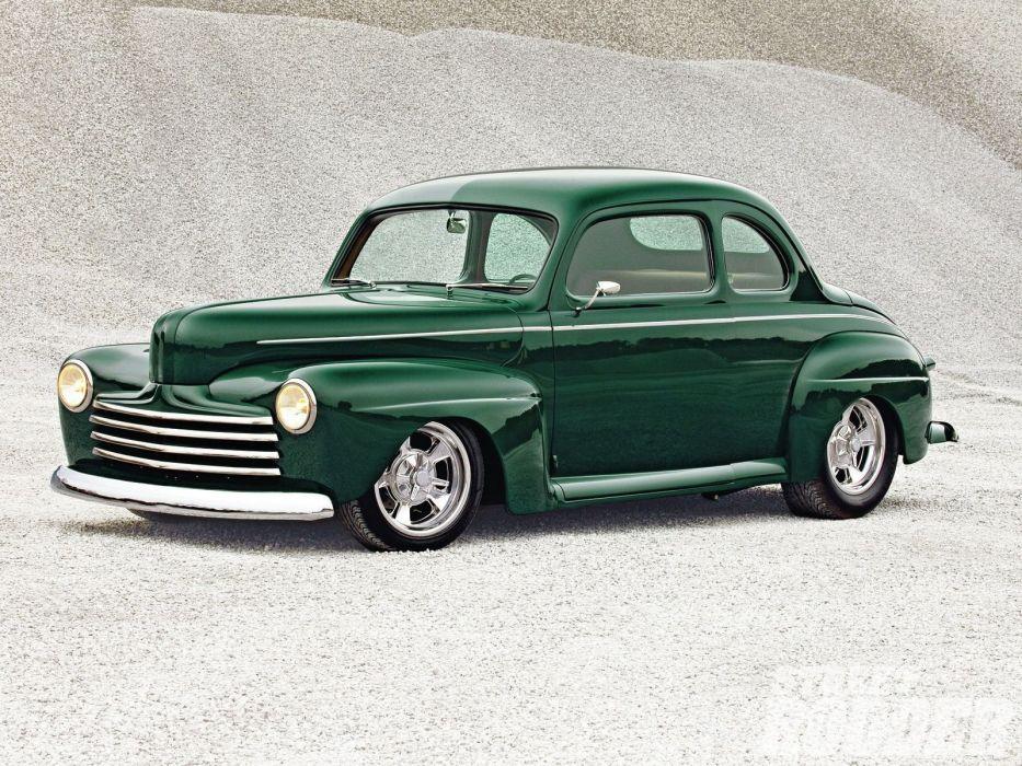 1948 Ford Coupe Hotrod Streetrod Hot Rod Street USA 1600x1200-03 wallpaper