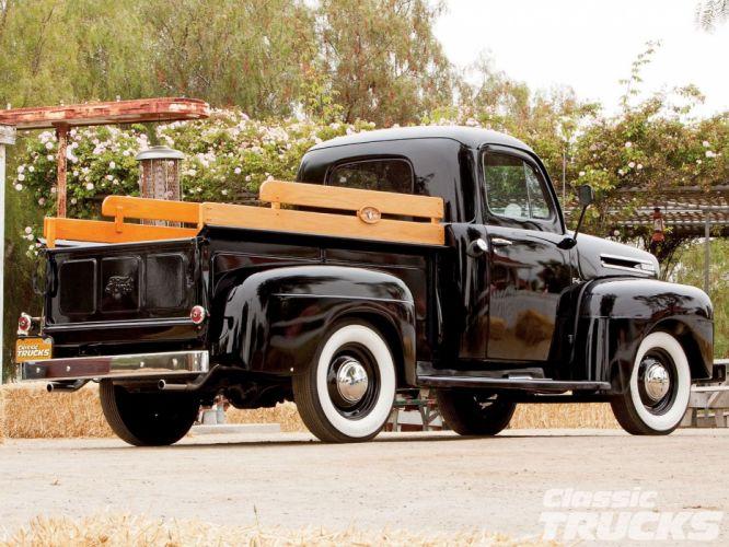 1948 Ford F1 Pickup Black Classic Old Vintage USA 1600x1200-02 wallpaper