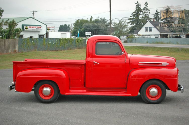 1948 Ford F1 Pickup Red Classic Old Vintage USA 1500x1000-01 wallpaper