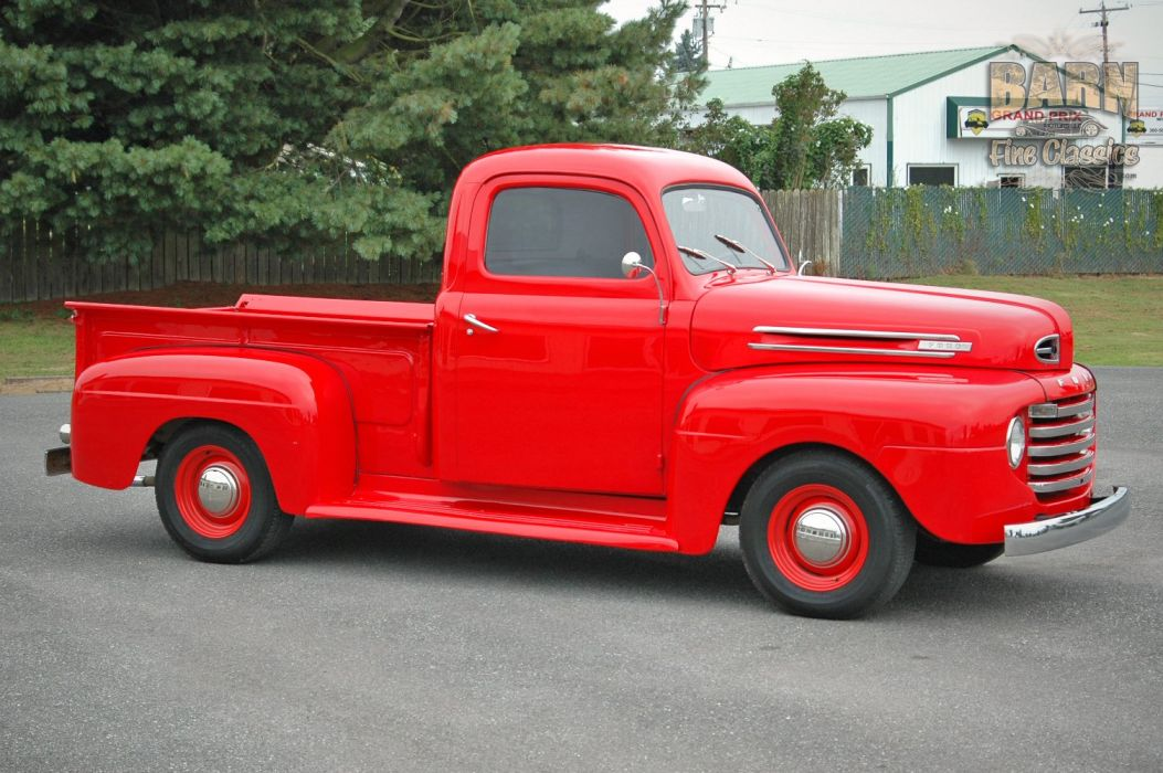 1948 Ford F1 Pickup Red Classic Old Vintage USA 1500x1000-02 wallpaper