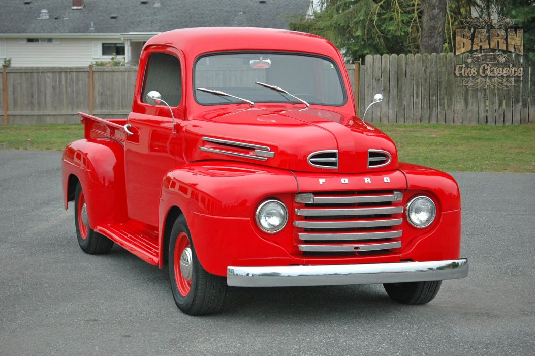 1948 Ford F1 Pickup Red Classic Old Vintage USA 1500x1000-04 wallpaper