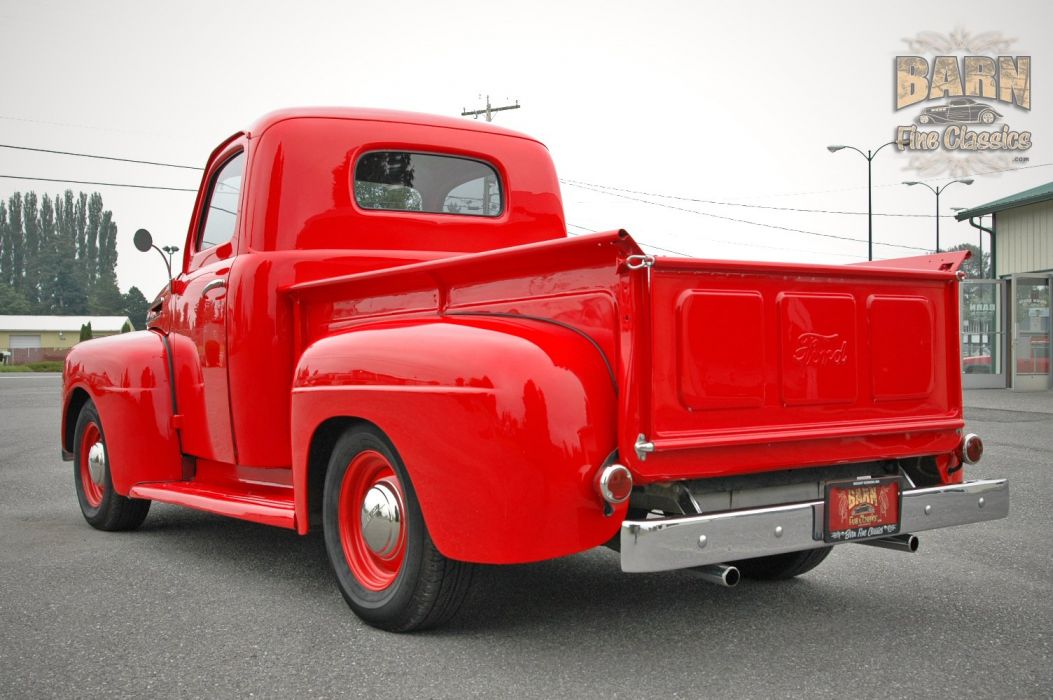 1948 Ford F1 Pickup Red Classic Old Vintage USA 1500x1000-07 wallpaper
