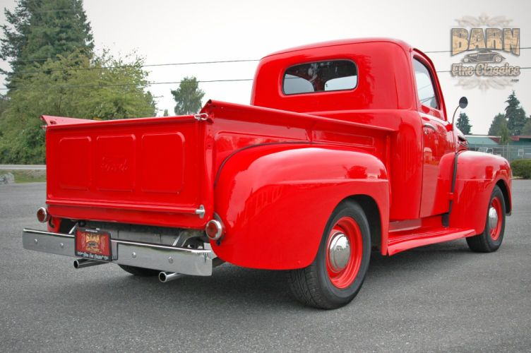 1948 Ford F1 Pickup Red Classic Old Vintage USA 1500x1000-08 wallpaper