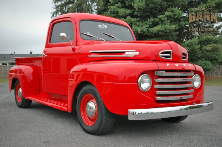 1948 Ford F1 Pickup Red Classic Old Vintage USA 1500x1000-10 wallpaper