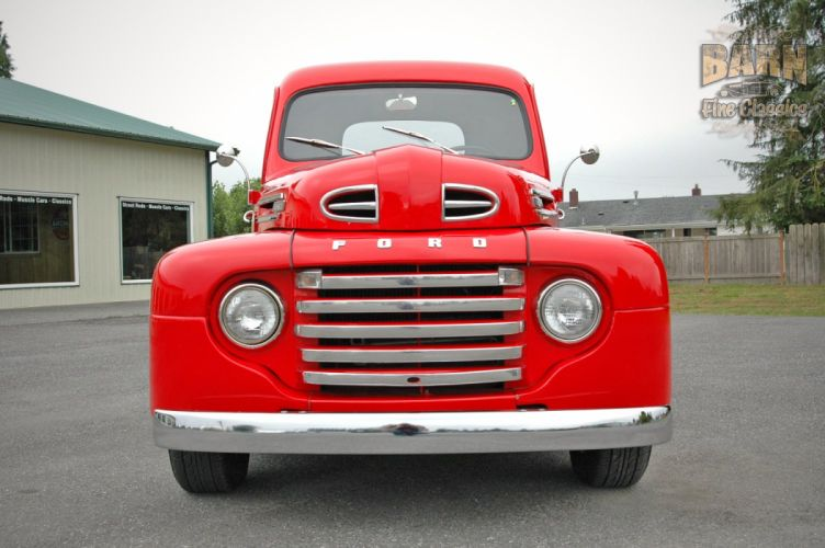1948 Ford F1 Pickup Red Classic Old Vintage USA 1500x1000-12 wallpaper