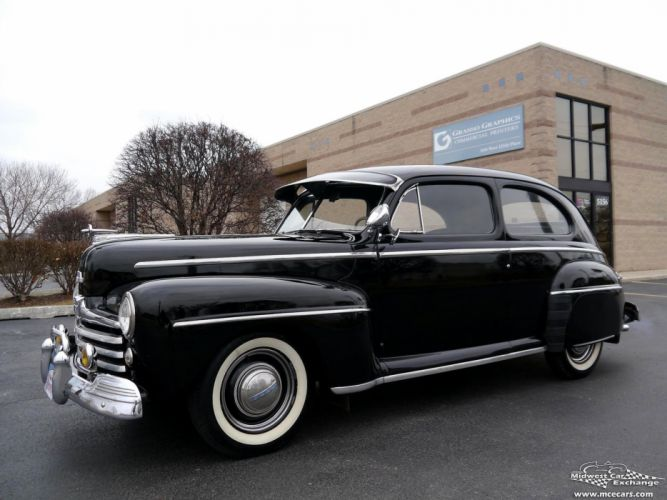 1948 Ford Super Deluxe Sedan Two Door Classic Old Vintage Original USA -02 wallpaper