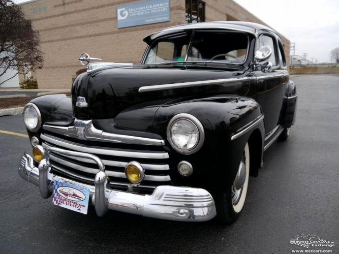 1948 Ford Super Deluxe Sedan Two Door Classic Old Vintage Original USA -04 wallpaper