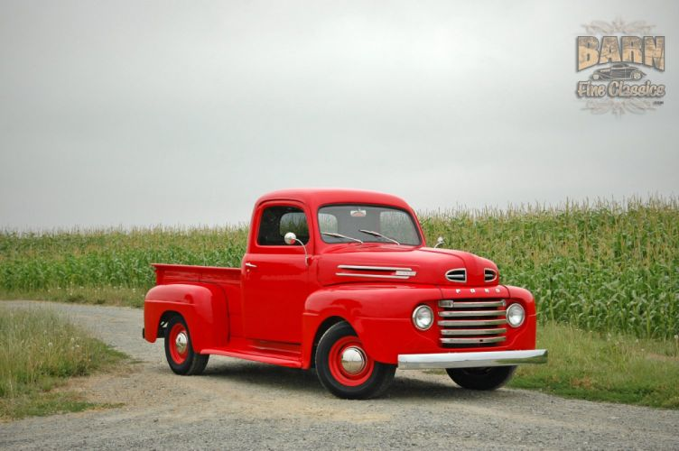 1948 Ford F1 Pickup Red Classic Old Vintage USA 1500x1000-15 wallpaper