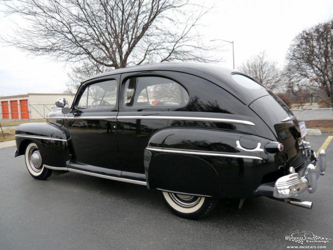 1948 Ford Super Deluxe Sedan Two Door Classic Old Vintage Original USA -05 wallpaper