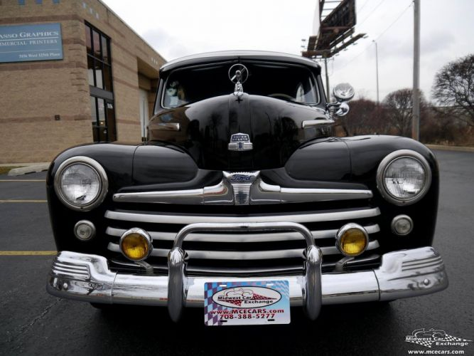 1948 Ford Super Deluxe Sedan Two Door Classic Old Vintage Original USA -09 wallpaper