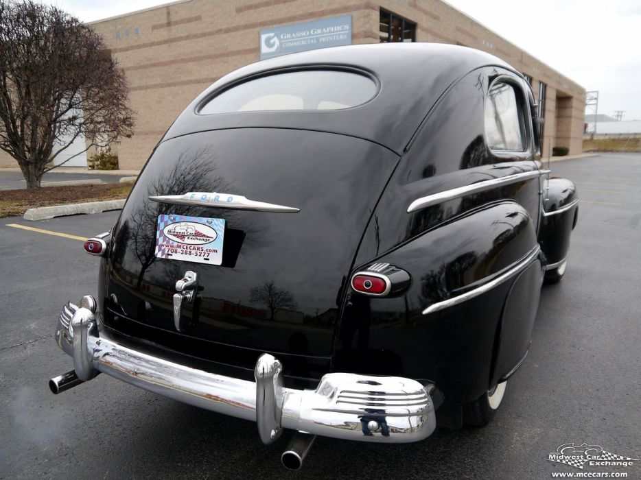 1948 Ford Super Deluxe Sedan Two Door Classic Old Vintage Original USA -17 wallpaper