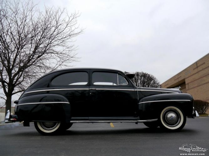 1948 Ford Super Deluxe Sedan Two Door Classic Old Vintage Original USA -20 wallpaper