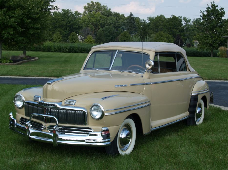 1948 Mercury Eight Convertible Classic Old Vintage USA 3254x2448-02 wallpaper