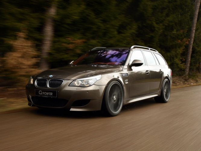 G-Power BMW-M5 Hurricane-RS Touring (E61) cars modified 2011 wallpaper