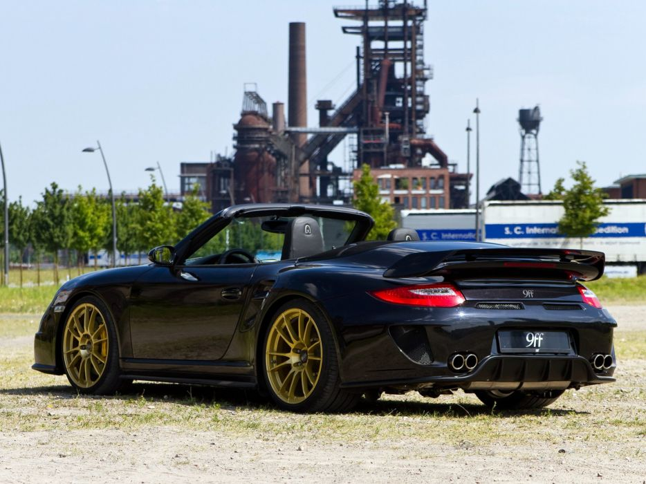 9ff Porsche 911 GTronic 1200 convertible (997) modified cars 2012 wallpaper