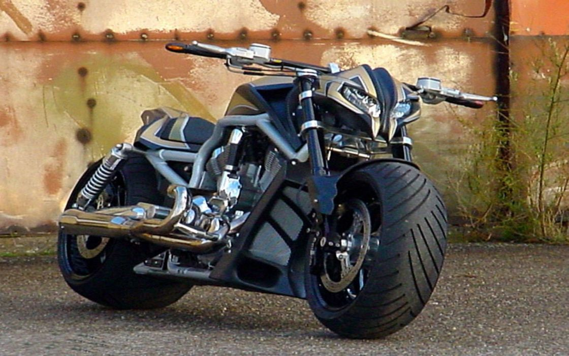 motocicleta negra wallpaper