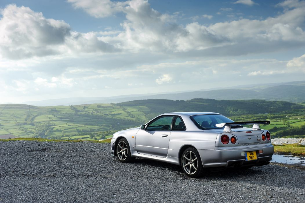 Nissan Skyline GT-R V-spec (BNR34) coupe cars 1999 wallpaper