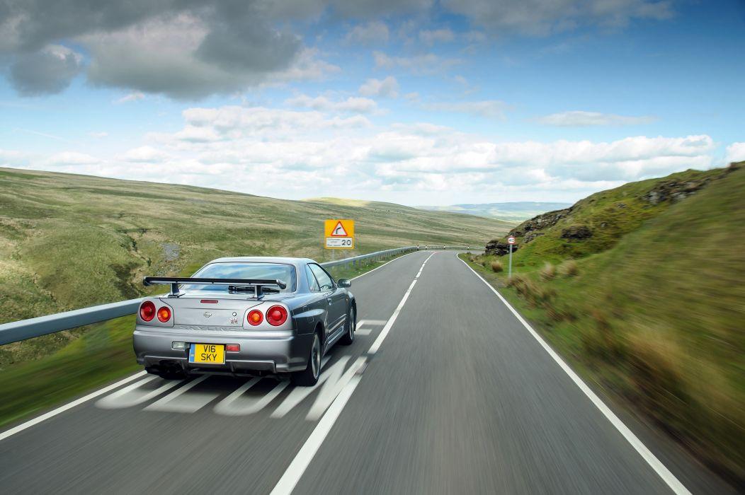 Nissan Skyline GT-R V-spec (BNR34) coupe cars 1999 wallpaper