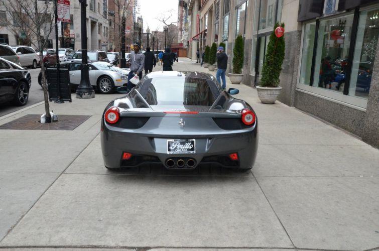 2012 FERRARI 458 ITALIA coupe cars GRIGIO SILVERSTONE METALLIC wallpaper