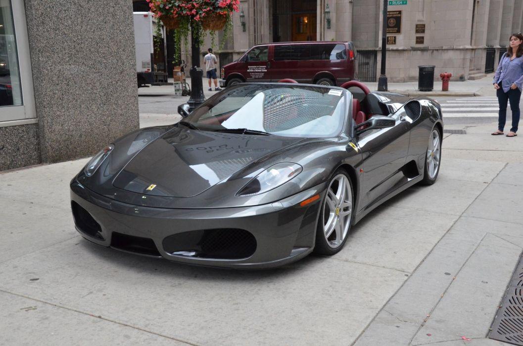 2006 Ferrari F430 Spider Convertible Cars Silver Wallpaper