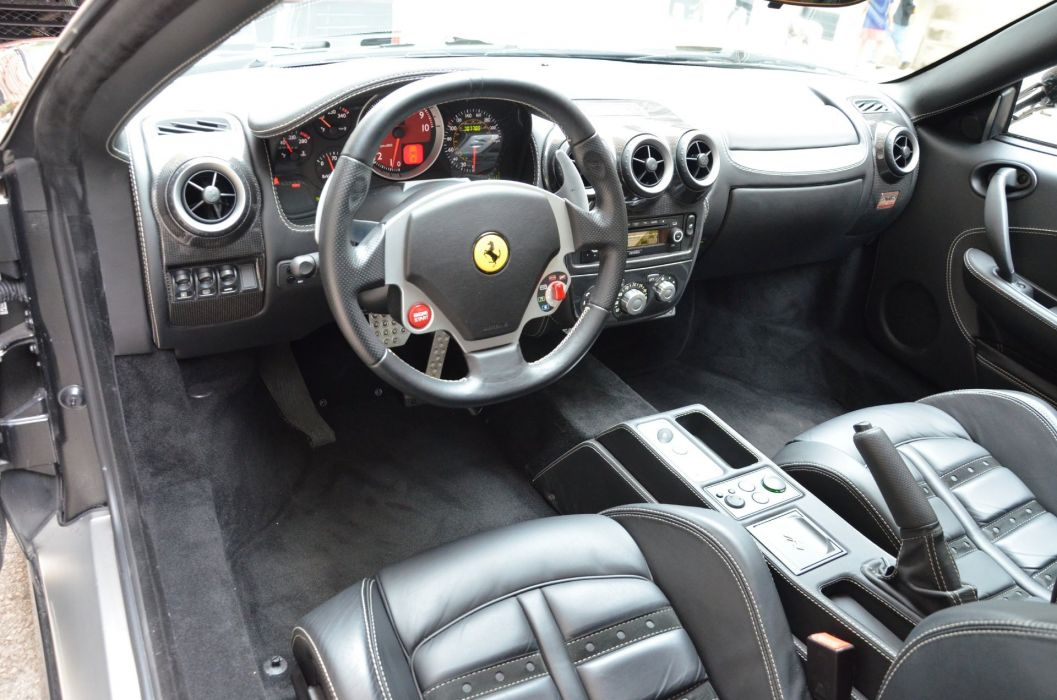 2008 Ferrari F430 coupe cars nero black wallpaper