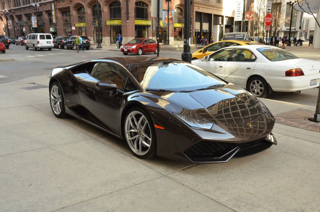 2015 LAMBORGHINI HURACAN LP610-4 coupe cars MARRONE ALCESTIS wallpaper