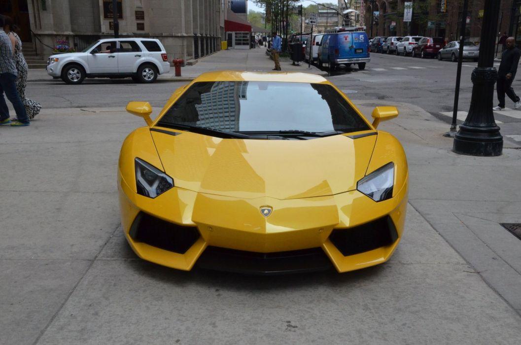 2014 Lamborghini Aventador Coupe Cars Giallo Orion Pearl Yellow